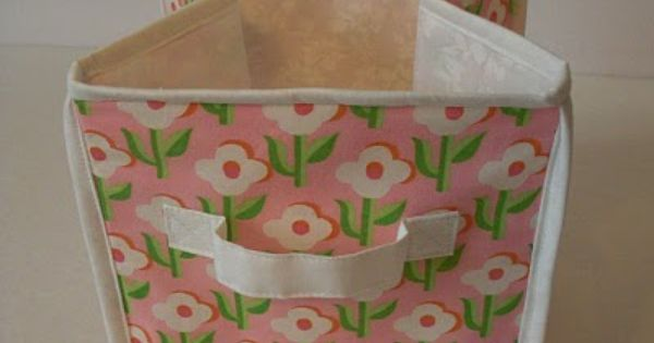 Pin By Becky Laswell On Sewing Tutorials Fabric Storage Cubes Diy Cube Storage Fabric Boxes