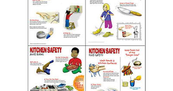 Kitchen Safety Worksheets Kitchen Safety Poster Set