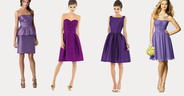 purple bridesmaid dresses // [sponsored] Woooo different shades of purple!