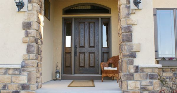 Exterior doors stylish and energy efficient oak textured for Energy efficient entry doors
