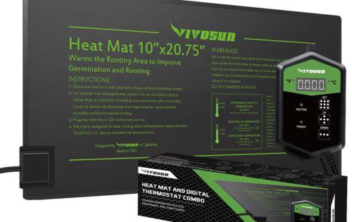 Vivosun Seedling Heat Mat Digital Thermostat Combo Set For Faster Seeding Heat Mat Digital Thermostat Seedlings