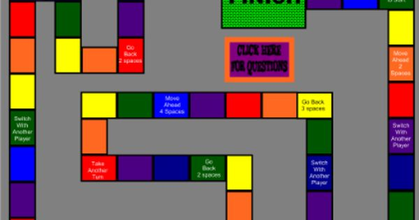 Game Board For Review A Game Board Template For You To Use For