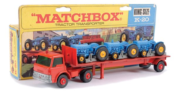 Articulated Tractor Toys And Joys : Matchbox kingsize no ford d articulated tractor