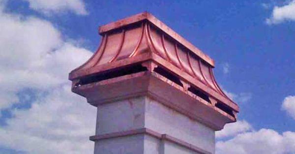 Custom Chimney Cap Design Made Of Copper Mounted On Chimney Top Arhitektura Idei Dlya Doma Dekor Iz Zheleza