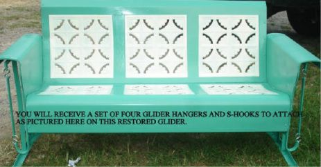 Awesome Vintage Glider Cushions Old Metal Porch Glider Parts Caraccident5 Cool Chair Designs And Ideas Caraccident5Info