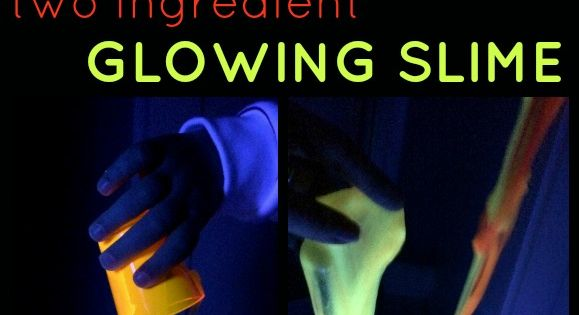 how to make glow in the dark slime ingredients