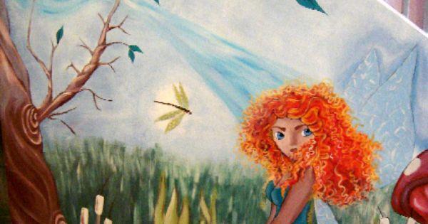 Mural de un hada en un bosque con el rostro de m rida la for El mural pelicula online