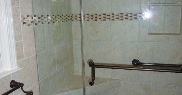 Mohawk tile delanova 9x12 color chiara cream with for Bathroom ideas 9x12