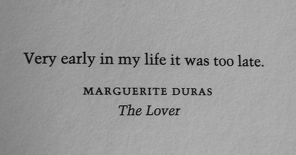 """the lover marguerite duras characters The lover, by marguerite duras, is """"beyond anything that i as a writer could do."""
