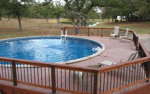 Free pool deck plans above ground round pool deck plans for Free pool deck plans