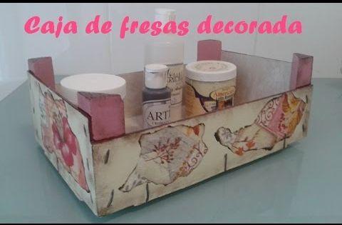 Pintar caja madera con pintura efecto tiza y multicarga - Manualidades con caja de madera ...