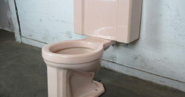 1950 S Pink Gerber Toilet Antique Toilets Pinterest