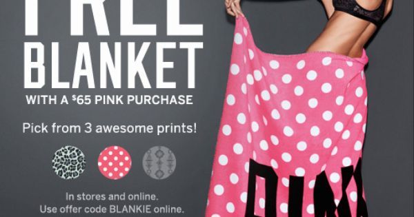 Free Victoria's Secret Blanket Coupons Pinterest