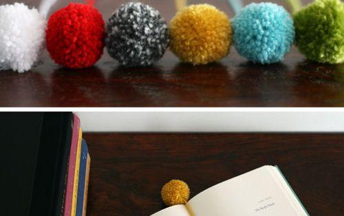 Perfekt für meinen Pompom Maker DIY pom pom bookmark