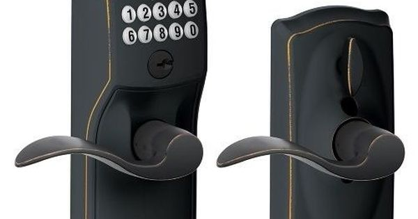 Keyless Door Lock Handle Electronic Entry Keypad Security