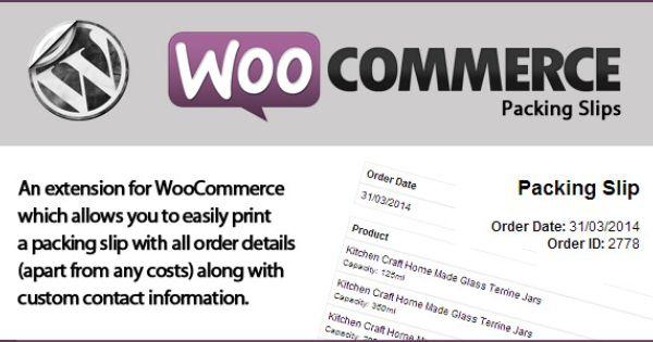 WooCommerce Packing Slips v12 u2013 CodeCanyon Wordpress Plugin - packing slip