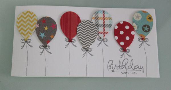 geburtstagskarte mit ballons geburtstage dawanda und karten. Black Bedroom Furniture Sets. Home Design Ideas