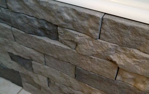 Airstone! It's faux stone that's easy to work with and 80% recycled.