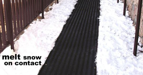 Snow Melting Heat Mats Snow Amp Ice Melting Systems Heated