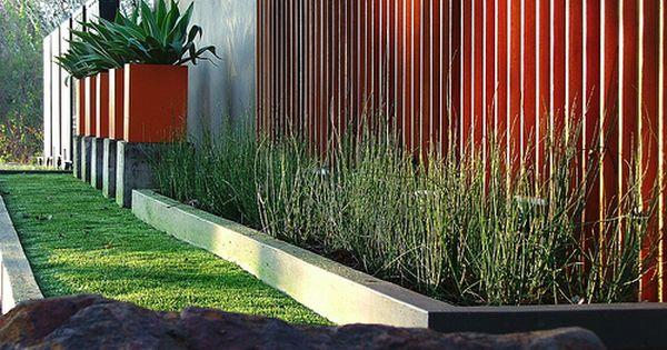 Feature Wall Wooden Decking Outdoor Gardens Design Outdoor Water Features Outdoor Gardens