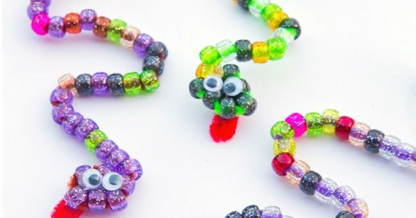 Pipe Cleaner Craft Beaded Snakes