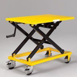 Relius Solutions Mechanical Mobile Scissor Lift Table 660 Lb