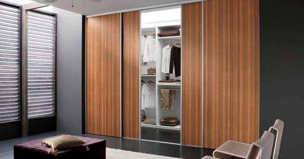 Contemporary Closet Doors For Bedrooms Wonderful Contemporary Bedroom Teak Wood Wardrobe