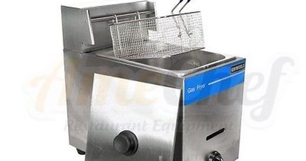 New Commercial Countertop Gas Fryer 1 Basket Uniworld Ugf 71