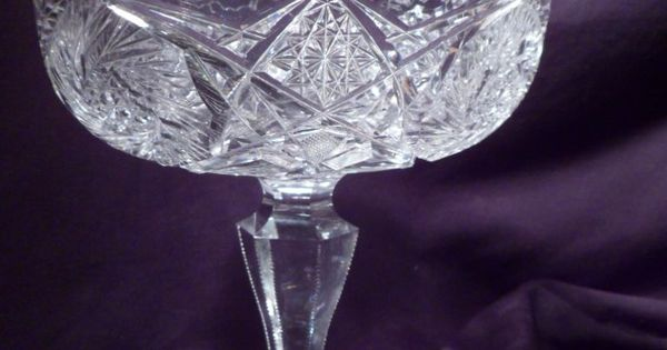 Vintage American Brilliant Cut Glass Cake Stands