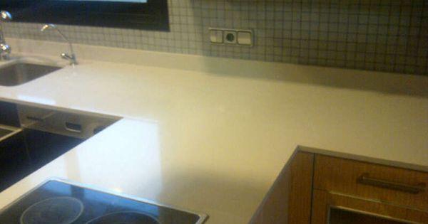 encimera de compac quartz ceniza canto de 2 cm y