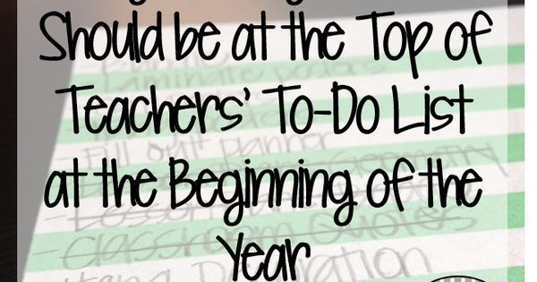 Eight Things That Should be at the Top of Teachers' To-Do List