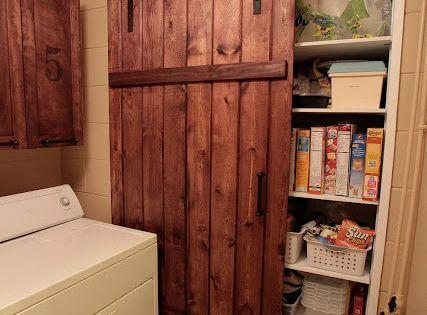 Make your own sliding barn door for cheap diy tutorial for Affordable sliding barn doors