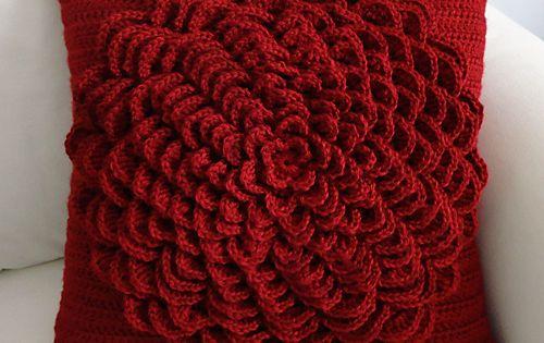 Crochet Flower Pattern Rose By Rachel Choi : Flower Pillow Cover pattern by Rachel Choi Ravelry