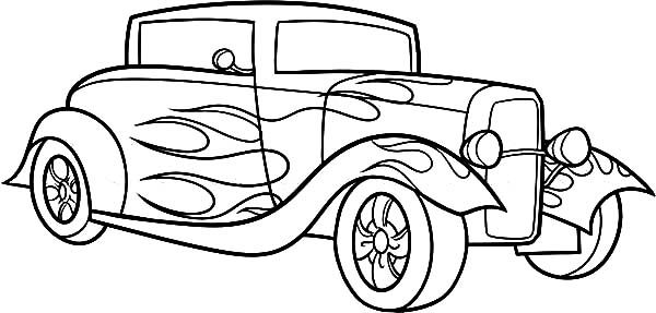 Classic Car Coloring Pages The Old And Muscle Car Cartoon Coloring Pages Truck Coloring Pages Cars Coloring Pages
