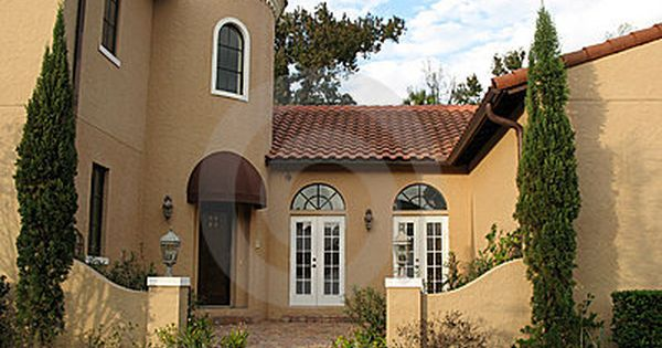 Stucco Exterior Paint Color Schemes red roof house colors | color scheme enhancing red tile roof
