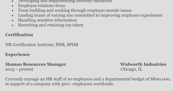 human-resources-resume-melanie Job 101 Pinterest Resume - human resources job description