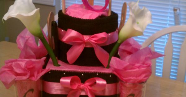 Senior Gift Dish Cloth Cake