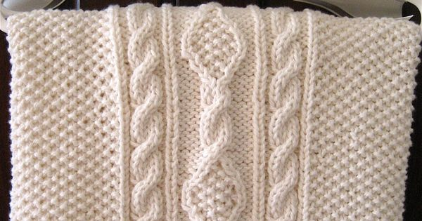 Irish Knit Baby Blanket Pattern : Irish Knit Baby Blanket...a perfect gift to make for baby.... Baby Cozies ...