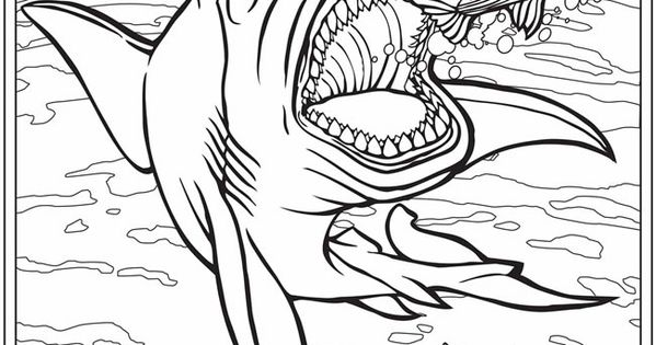 dinosaur and sharks coloring pages kids coloring