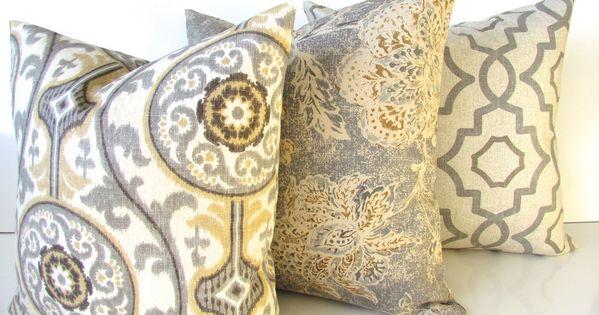 Tan And Gray Pillows Grey Throw Pillow Covers Tan Pillows Grey Etsy Tan Throw Pillow Grey Pillows Tan Pillows