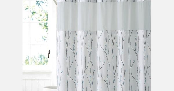 Hookless Cherry Bloom Shower Curtain Includes Snap On Off