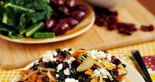 Pasta With Kale, Kalamata Olives, Dried Cranberries, Toasted Garlic ...