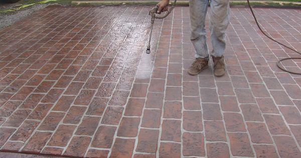 Concrete Stencil Colors Driveway Sidewalks Floors