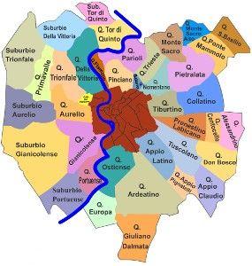 Quartieri Roma Cartina.Quartieri Roma 2 Jpg 285 300 Roma Mappa Citta