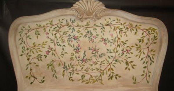 Cabecero pintado a mano cabeceros pinterest - Cabeceros pintados a mano ...