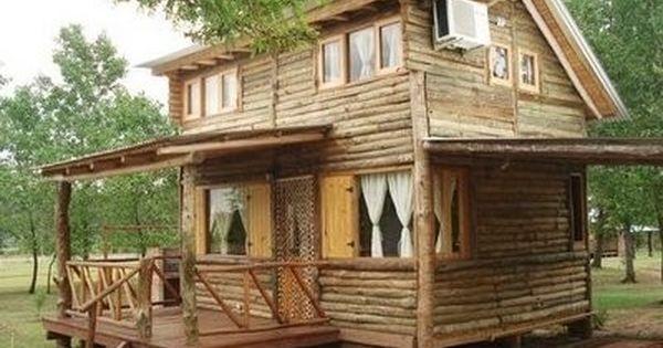 Modelos de caba as rusticas de madera jardines y for Modelos de casas rusticas