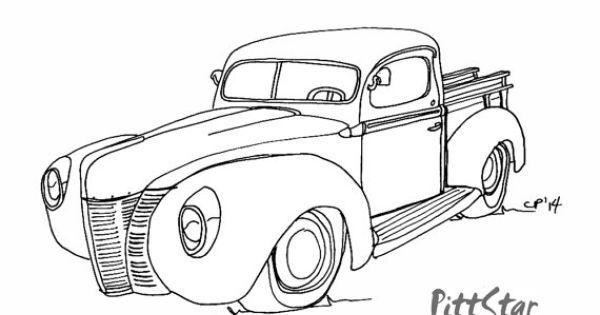 instant download - vintage 1940 u0026 39 s ford pickup truck
