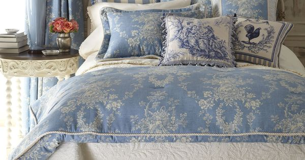 Blue Amp Ivory Country Cottage Toile Bedding Country