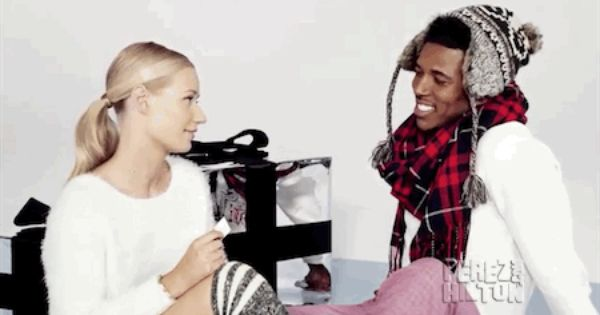 Iggy Azalea Nick Young Answer Questions From A Hat For Forever 21 They Re Adorable Iggy Azalea Perez Hilton This Or That Questions