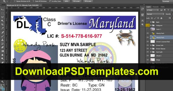 Fake Driving License Templates Psd Files Drivers License
